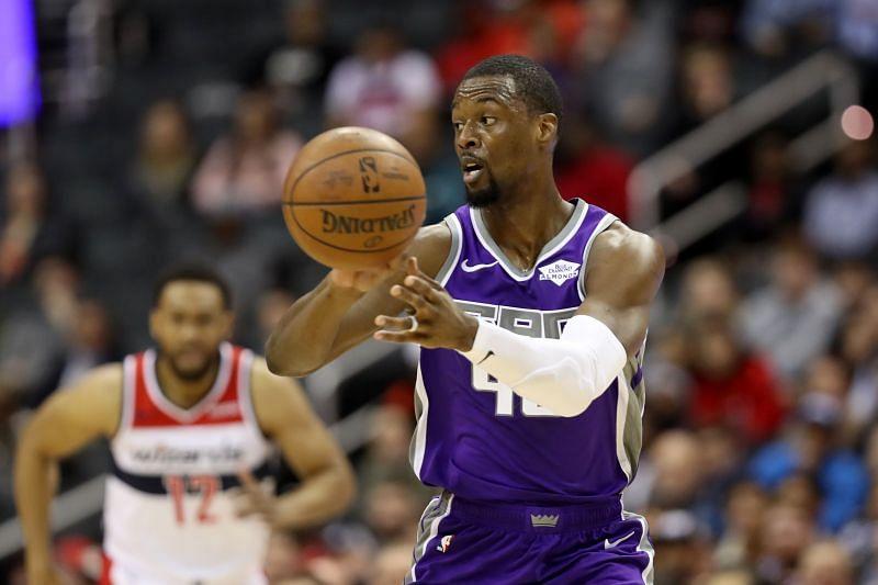 Harrison Barnes playing for the Sacramento Kings