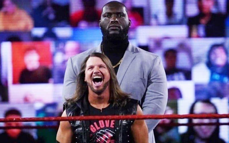 Omos and AJ Styles