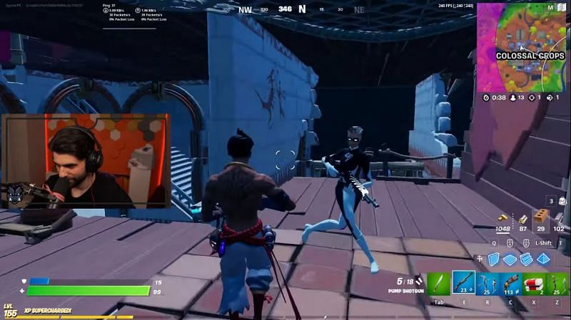 SypherPK disguised as pay-to-win Raz outfit in Fortnite (Image via SypherPK YouTube)