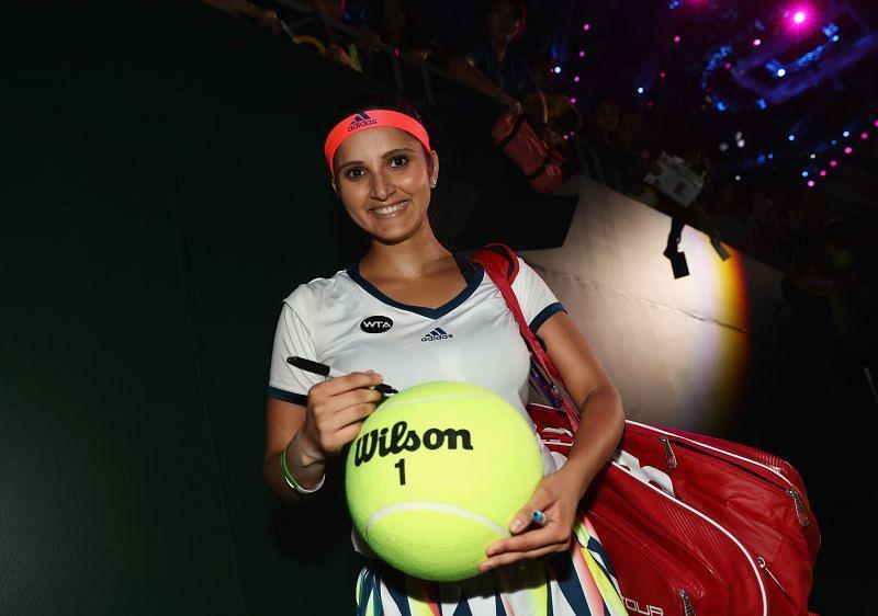 Sania Mirza at the BNP Paribas WTA Finals in Singapore 2016