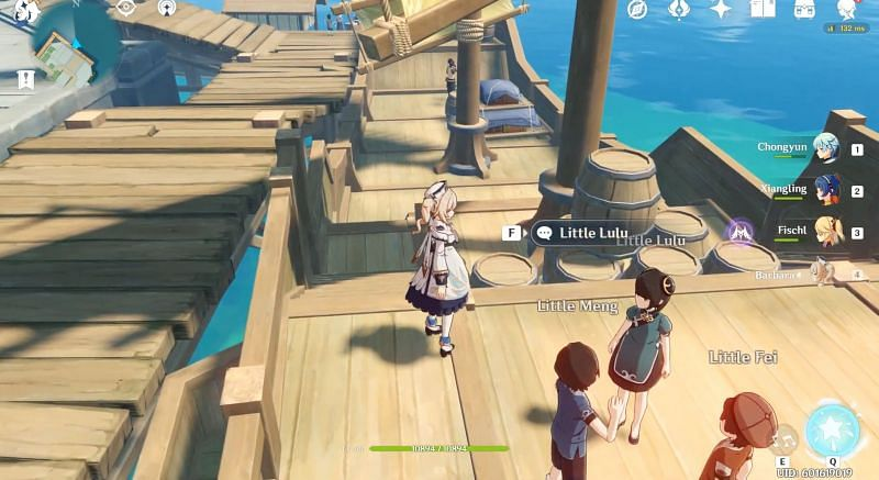 The 3 NPCs, Little Lulu, Little Meng, and Little Fei who assign 3 versions of the quests to the players (Image via Sumi YouTube)