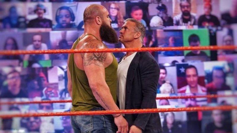 पूर्व WWE यूनिवर्सल चैंपियन ब्रॉन स्ट्रोमैन और शेन मैकमैहन