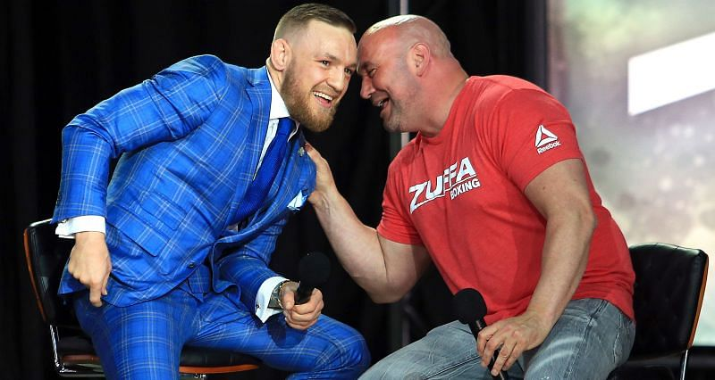 Dana White (Right) thinks refusing to rematch Conor McGregor (Left) is the big mistake that many fighters made