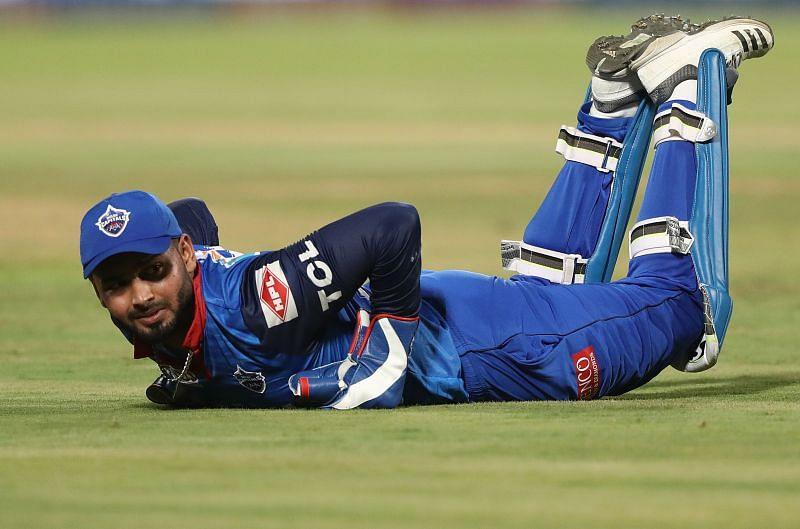 Rishabh Pant in action in the IPL Qualifier - Chennai v Delhi