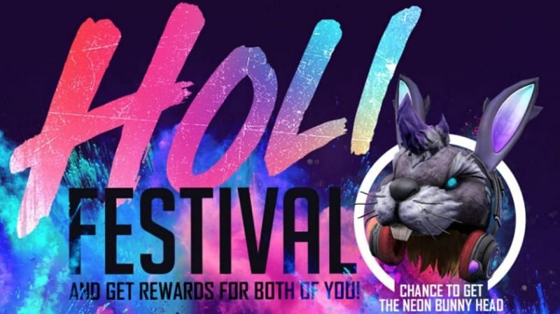 The Friends Call Back event offers the Neon Bunnyhead headwear as a free prize (Image via Sportskeeda)