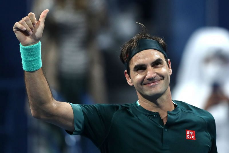Roger Federer at the Qatar Open
