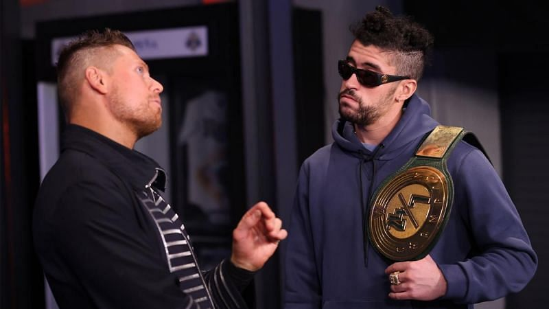 Bad Bunny and The Miz on WWE RAW