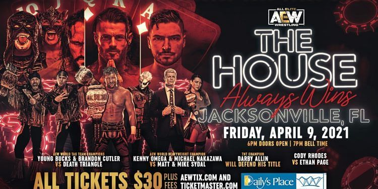 AEW will conduct its first live show during WrestleMania weekend.