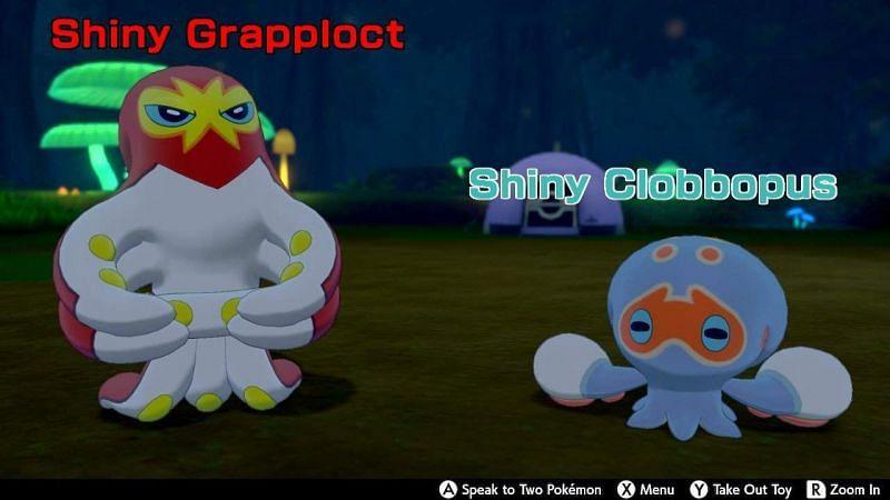 Shiny Grapploct and Clobbopus (Image via Amino Apps)