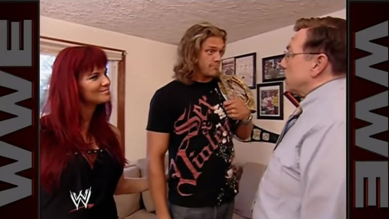 Lita, Edge, and John Cena Sr.