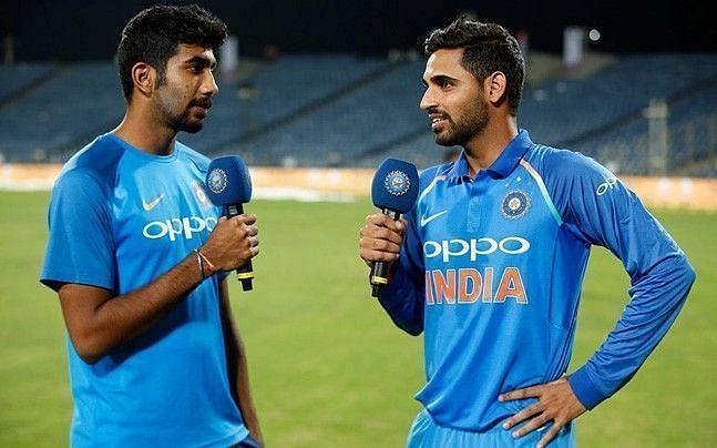 Jasprit Bumrah and Bhuvneshwar Kumar are India