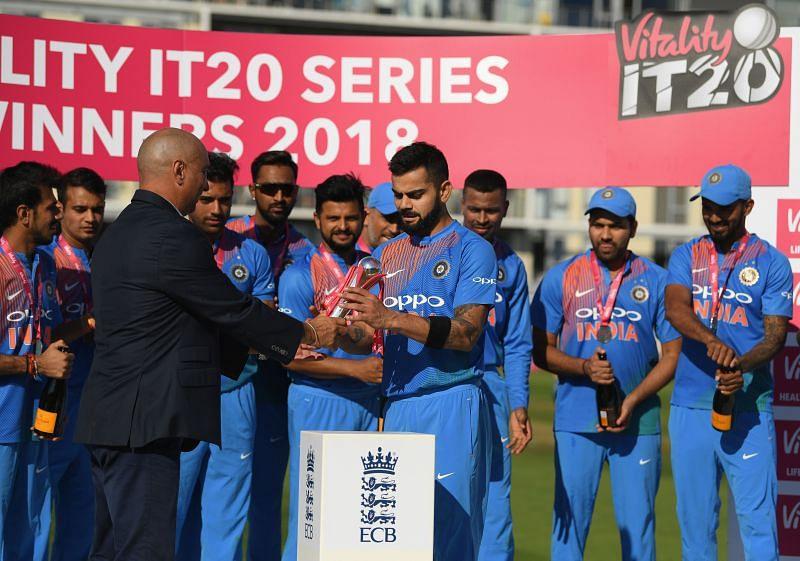 Team India won its last T20I series against England