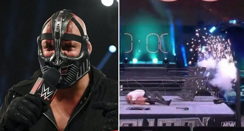 T-BAR takes a dig at AEW after an awkward explosion sequence to close Revolution