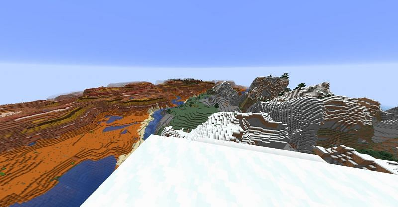 Changing the FOV setting in Minecraft to zoomed out and see more of the world (Image via Minecraft)