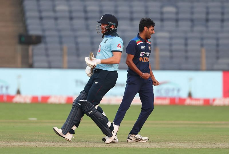 Bhuvneshwar Kumar (R) picked up six wickets for the Indian cricket team in the ODI series against England