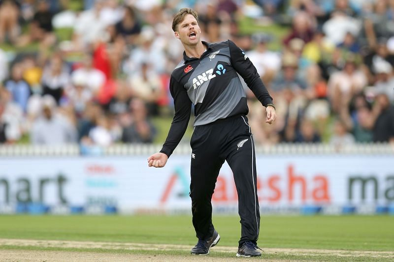 Lockie Ferguson made his T20I debut against Bangladesh at McLean Park