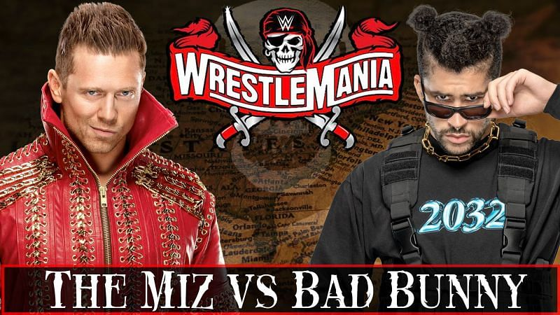 The Miz is set to face off against rap sensation Bad Bunny at WWE WrestleMania 37