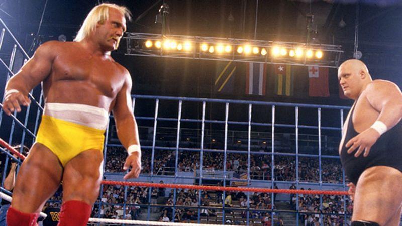 Hulk Hogan defended the WWE Championship against King Kong Bundy at WrestleMania 2