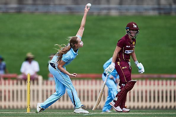 Action from the Women's National Cricket League 2021