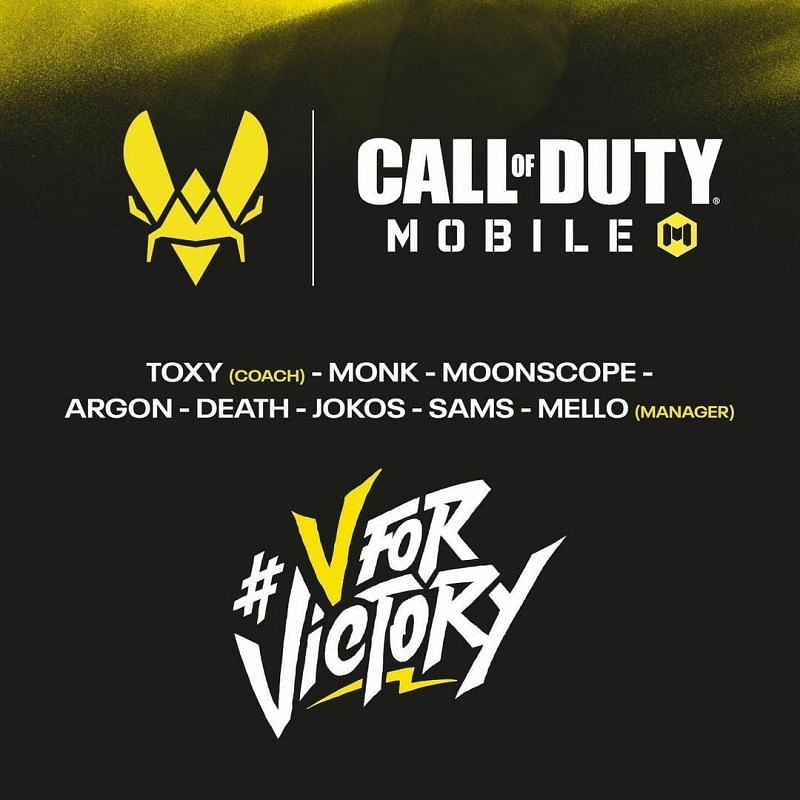 Team Vitality's new COD Mobile roster announcement