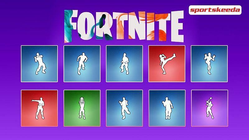Top 10 rarest Fortnite emotes that have not returned in a long time (Image Via Sportskeeda)