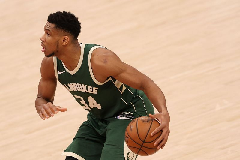 Giannis Antetokounmpo #34 in action against the Washington Wizards. (Photo by Patrick Smith/Getty Images)