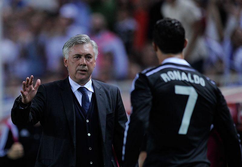 Carlo Ancelotti and Cristiano Ronaldo
