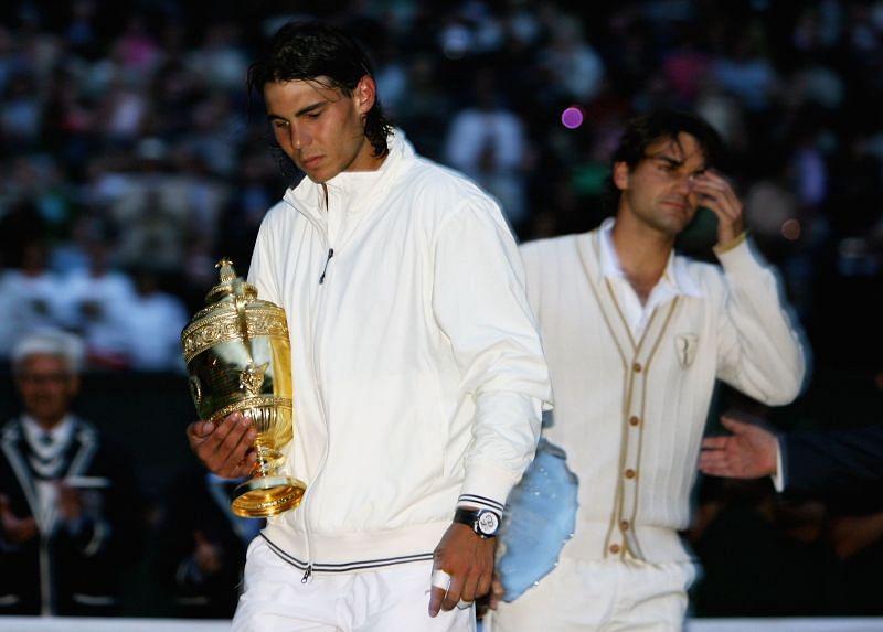 Rafael Nadal beat Roger Federer in a thriller at Wimbledon 2008