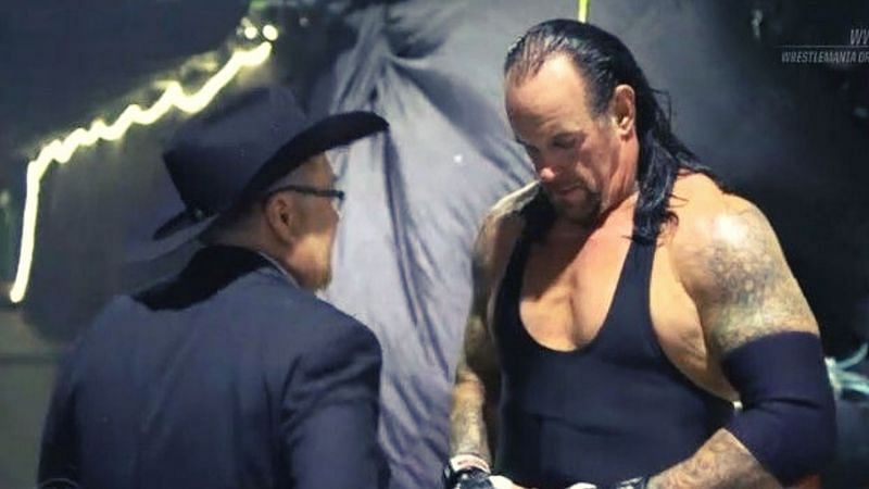 Jim Ross and The Undertaker.