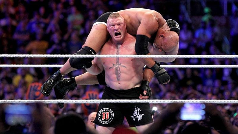 Brock Lesnar captured the WWE Universal Championship for the first time by defeating Goldberg at WrestleMania 33