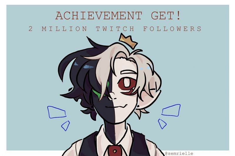 Twitch streamer Ranboo recently hit the 2 million follower on the platform to much fanfare (image via @semrielle, Twitter)