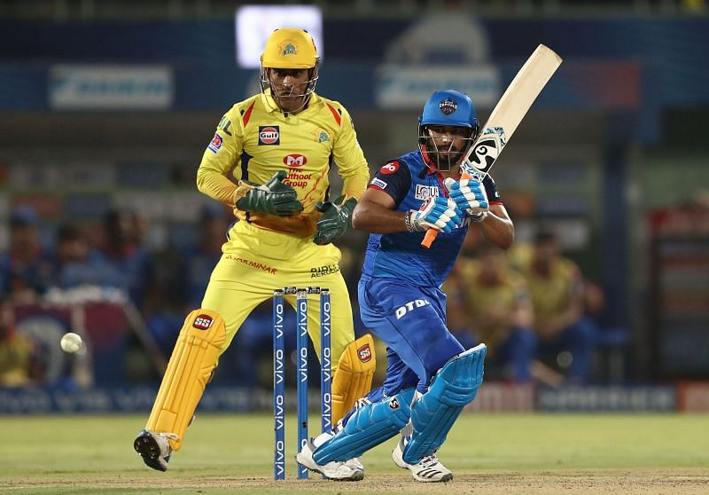 Rishabh Pant batting in the IPL Qualifier - Chennai v Delhi