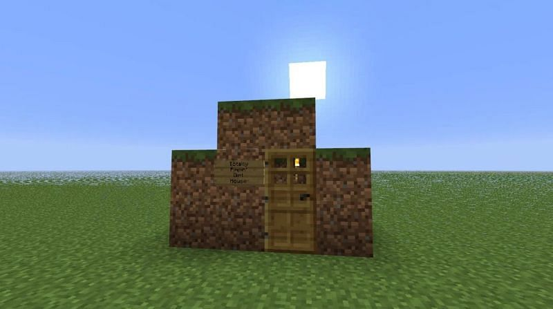 Usually, the first build a Minecrafter makes (Image via Minecraftforum)