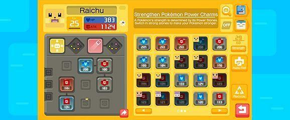 The Power Stone editing page for Raichu (Image via The Pokemon Company)