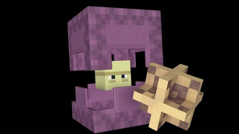 A shulker mob from Minecraft (Image via aminoapps.com)