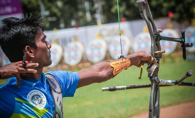 Pravin Jadhav emerged as the top archer in the Olympics selection trials