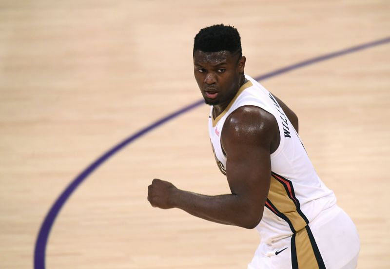 Zion Williamson (#1) of the New Orleans Pelicans.