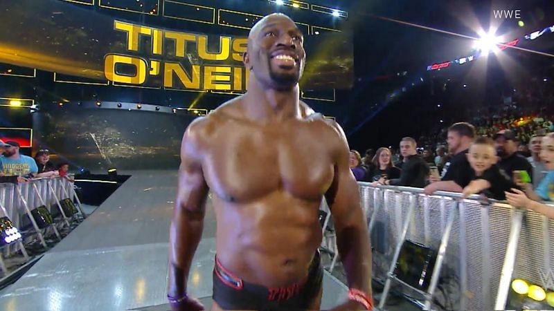 Titus O'Neil on WWE RAW