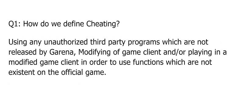 A snippet from the anti-hack FAQ