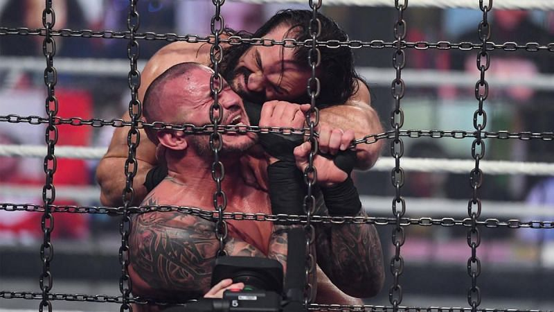 Randy Orton and Drew McIntyre competed for the WWE Championship inside the Elimination Chamber