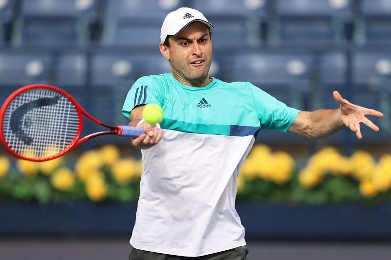 Aslan Karatseva at the Dubai Tennis Championships 2021