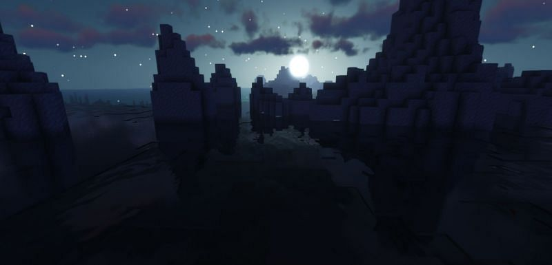 Players are not advised to settle on a Deep Frozen Ocean biome (Image via Minecraft)