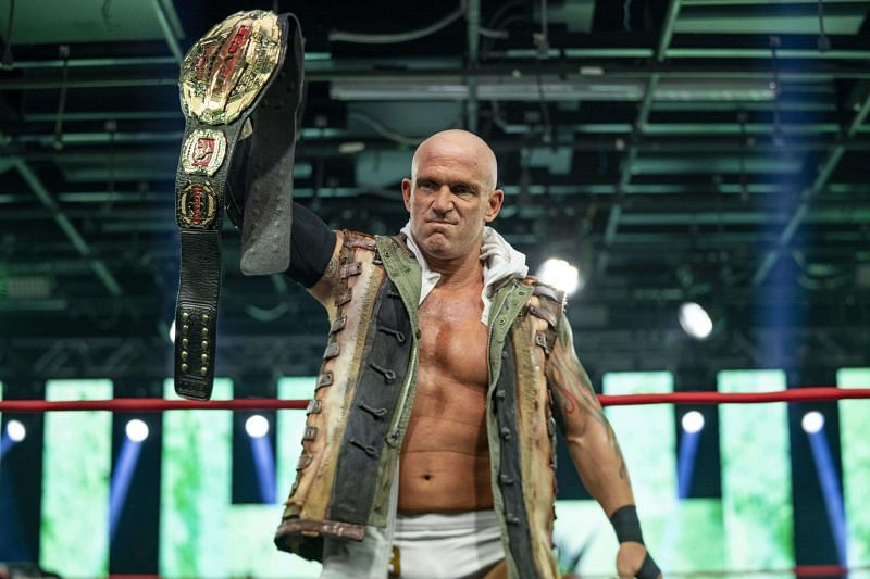 Eric Young as the IMPACT Wrestling Champion