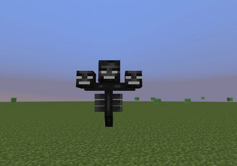 Wither floating around (Image via minecraftpocketedition.wikia.com)