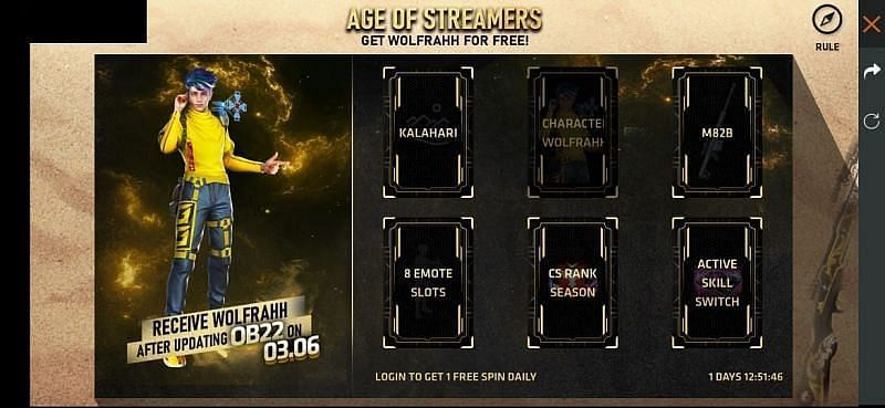 The Age of Streamers event