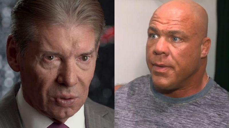 Vince McMahon and Kurt Angle.