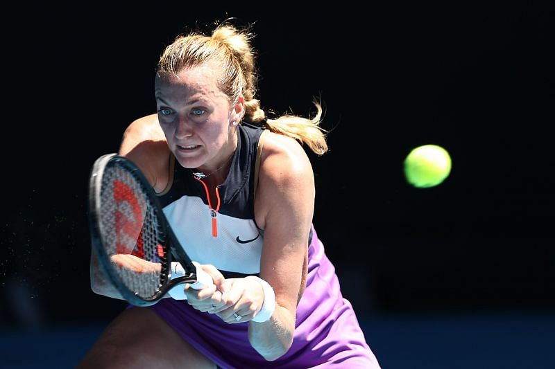 Petra Kvitova has fired a total of 62 winners in her two matches in Doha so far.