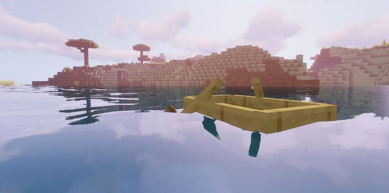 Shown: A beautiful shot of a Boat... (Image via Minecraft)