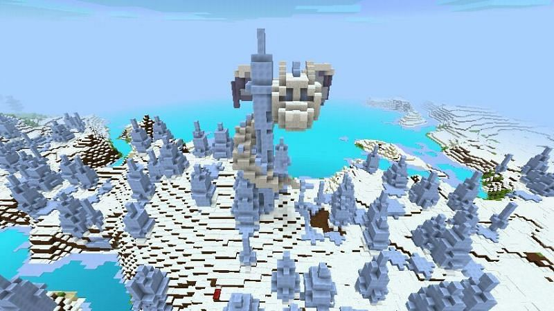 Minecraft ice spikes (Image via amino)