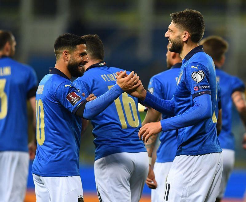 Domenico Berardi scored Italy